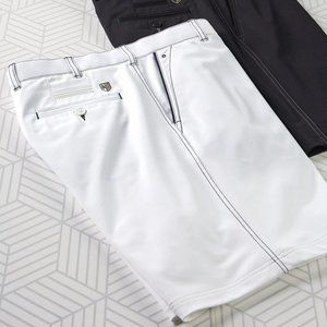 New Bobby Jones Rule 18 White Navy golf Tech Short